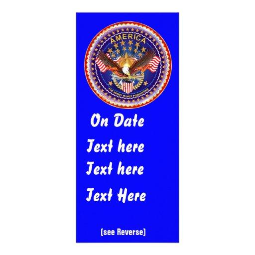 El estante de tarjeta Vert América no olvidada ve Lona