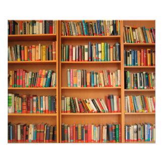 El estante reserva la lectura del ratón de fotografía