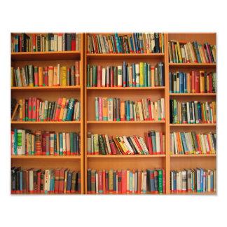 El estante reserva la lectura del ratón de fotografías
