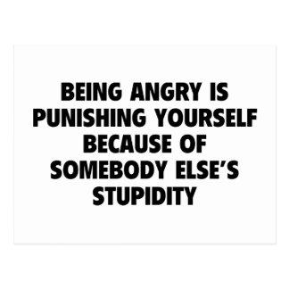 El estar enojado se está castigando postales