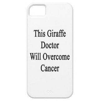 El este doctor Will Overcome Cancer de la jirafa iPhone 5 Cárcasas