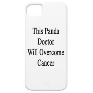 El este doctor Will Overcome Cancer de la panda iPhone 5 Cárcasa