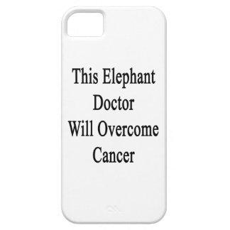 El este doctor Will Overcome Cancer del elefante iPhone 5 Case-Mate Fundas