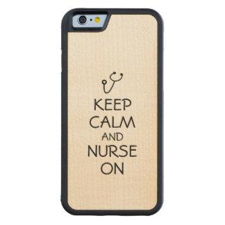 El estetoscopio del regalo de la enfermera guarda funda de iPhone 6 bumper arce