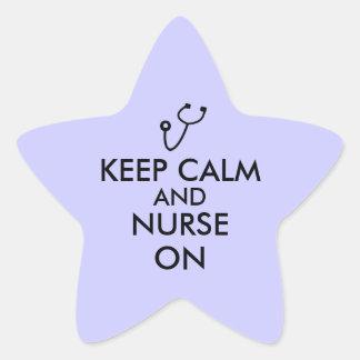 El estetoscopio del regalo de la enfermera guarda pegatina en forma de estrella
