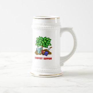 El estiércol vegetal sucede jarra de cerveza