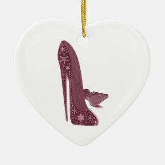 El estilete del navidad calza arte adorno navideño de cerámica en forma de corazón