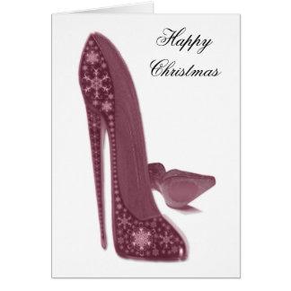 El estilete del navidad calza arte tarjeta de felicitación