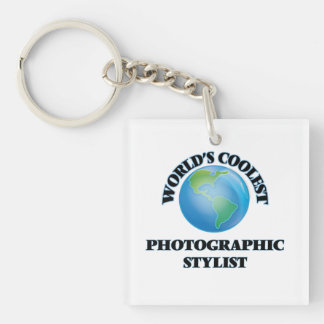 El estilista fotográfico más fresco del mundo llavero cuadrado acrílico a una cara