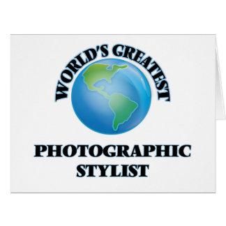 El estilista fotográfico más grande del mundo tarjeta