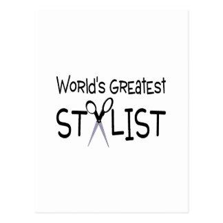 El estilista más grande de los mundos tarjetas postales