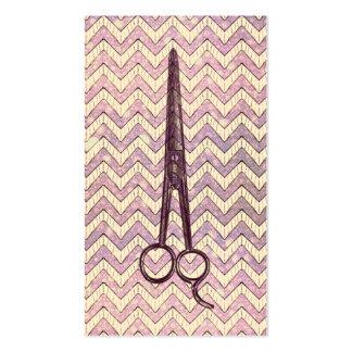 el estilista scissors esquileos púrpuras del galón plantilla de tarjeta de negocio