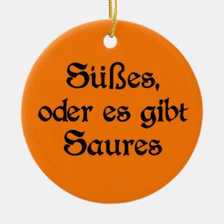 El estilo alemán de Halloween celebra Adorno Navideño Redondo De Cerámica