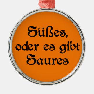 El estilo alemán de Halloween celebra Adorno Navideño Redondo De Metal