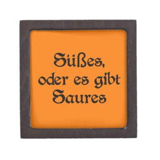 El estilo alemán de Halloween celebra Caja De Recuerdo De Calidad