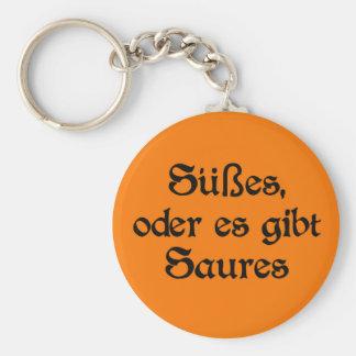 El estilo alemán de Halloween celebra Llavero Redondo Tipo Pin
