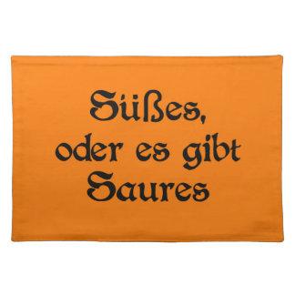 El estilo alemán de Halloween celebra Mantel Individual