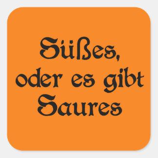 El estilo alemán de Halloween celebra Pegatina Cuadrada
