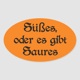 El estilo alemán de Halloween celebra Pegatina Ovalada
