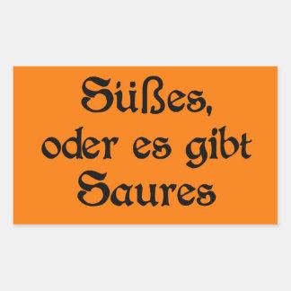 El estilo alemán de Halloween celebra Pegatina Rectangular