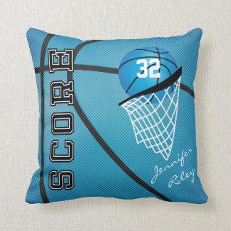 El estilo azul el   del baloncesto personaliza cojines