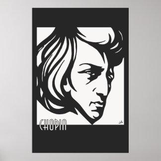 El estilo Chopin del art déco cabe todos los tamañ Póster