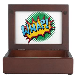 ¡El estilo cómico del arte pop Whap! Cajas De Recuerdos