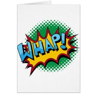 ¡El estilo cómico del arte pop Whap! Tarjeta De Felicitación