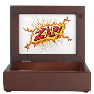 ¡El estilo cómico del arte pop Zap! Cajas De Recuerdos