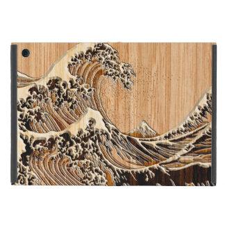 El estilo de madera de bambú de la gran onda de iPad mini coberturas