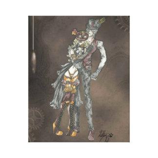 El estilo de Steampunk del abrazo estiró la impres Lienzo Envuelto Para Galerias