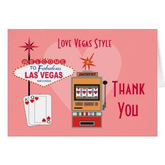 El estilo de Vegas del amor le agradece las tarjet Tarjeta Pequeña