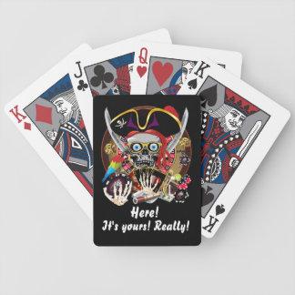 El estilo del casino de Vegas ve por favor notas Barajas De Cartas