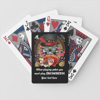 El estilo del casino de Vegas ve por favor notas Baraja Cartas De Poker