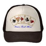 El estilo del casino de Vegas ve por favor notas Gorras