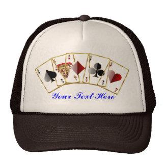 El estilo del casino de Vegas ve por favor notas Gorros