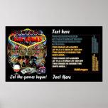El estilo del casino de Vegas ve por favor notas Poster
