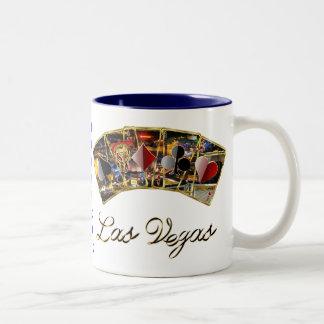 El estilo del casino de Vegas ve por favor notas Tazas