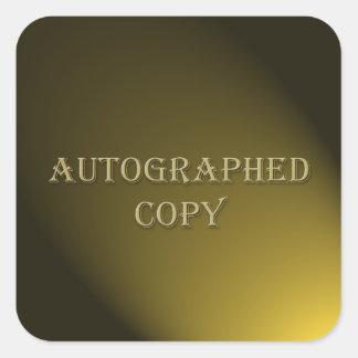 El estilo del oro dedicó al pegatina del autor de