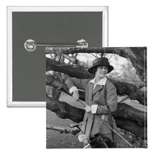 El estilo en traje del golf, 1900s tempranos de la pin