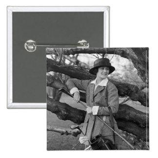 El estilo en traje del golf, 1900s tempranos de la pin cuadrado