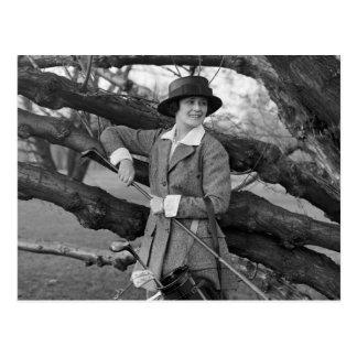 El estilo en traje del golf, 1900s tempranos de la tarjeta postal