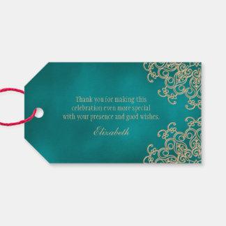 El estilo indio de encargo del trullo y del oro le etiquetas para regalos