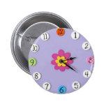 """El estilo lindo del reloj embroma los botones - """"m pin"""