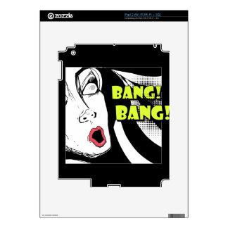 El estilo Noir de los tebeos asustó a la mujer - Calcomanías Para iPad 2