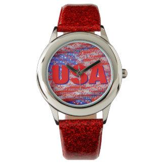 el estilo patriótico de los E.E.U.U. Reloj De Mano