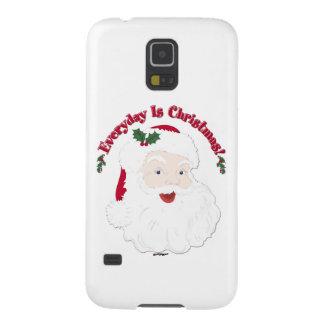 ¡El estilo Santa del vintage diario es navidad! Fundas Para Galaxy S5