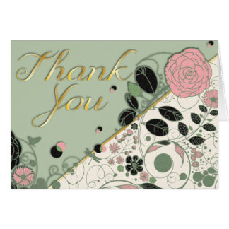 El estilo texturizado de la primavera le agradece  tarjeta de felicitación