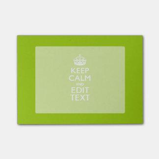 El estilo verde androide guarda calma y su texto post-it® notas