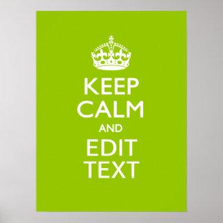 El estilo verde androide guarda calma y su texto póster